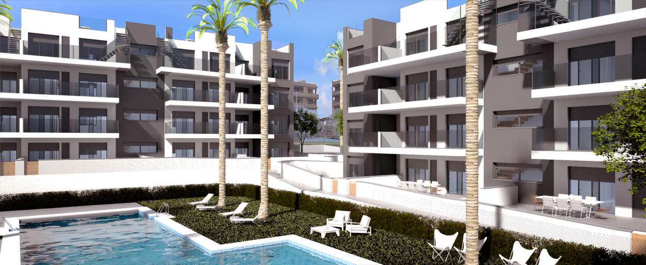 New build apartments at Villamartin